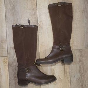 Franco Sarto Corbin Tall Brown Boots